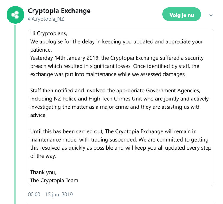 Cryptopia gehacked